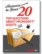 , 20questions, Licensing position report, Microsoft Licensing exposure, Microsoft Licensing statement